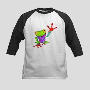 Waving Poison Dart Frog Kids Baseball Jersey