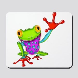 Waving Poison Dart Frog Mousepad