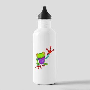 Waving Poison Dart Frog Stainless Water Bottle 1.0