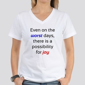 Possibility For Joy Women's V-Neck T-Shirt