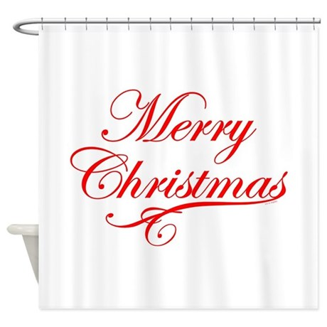 Merry Christmas Shower Curtain By Foxxytees
