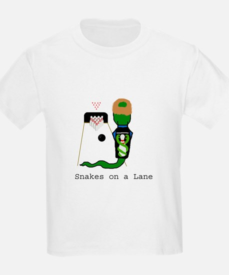 Snakes on a Lane Kids T-Shirt
