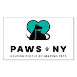 PAWS NY Sticker (Rectangle 10 pk)