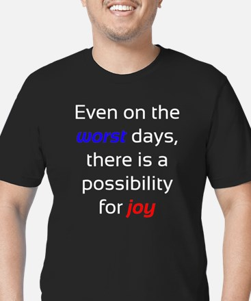 Possibility For Joy Men's Fitted T-Shirt (dark)