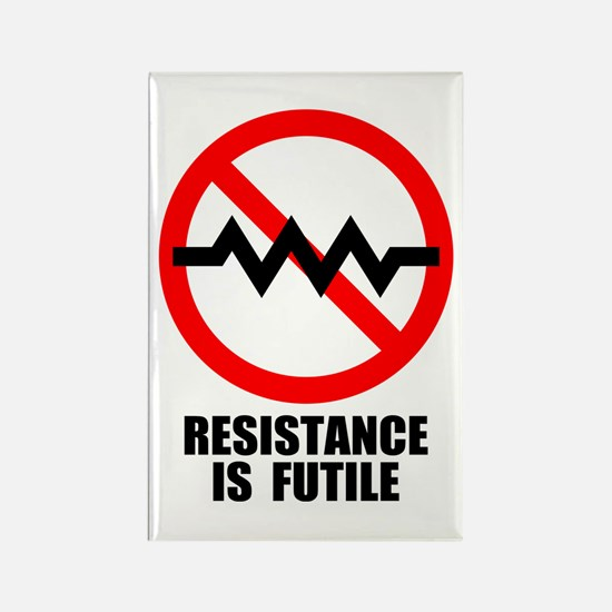 Resistance is Futile Rectangle Magnet