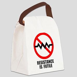 Resistance is Futile Canvas Lunch Bag