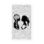 Kiss me I'm a narcissist Sticker (Rectangle 50 pk)