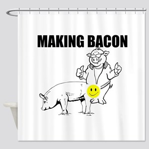 Making bacon Shower Curtain