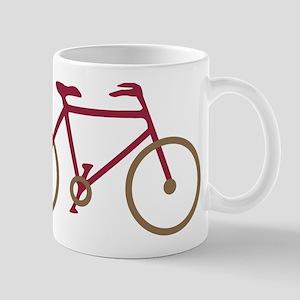 Red and Dark Gold Cycling Mug