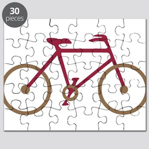 Red and Dark Gold Cycling Puzzle