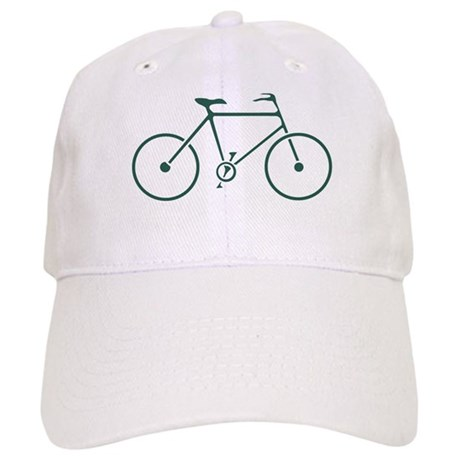 Green and White Cycling Cap