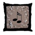 Music Gift For Teacher or Musician Throw Pillow