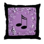 Musician Gift Musical notes Throw Pillow