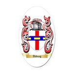 Abbing Oval Car Magnet