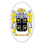 Abbot (English) Sticker (Oval 10 pk)