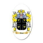 Abbot (English) 20x12 Oval Wall Decal