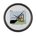 Service Large Wall Clock