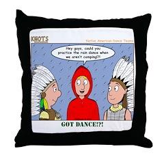 Rain Dance Throw Pillow
