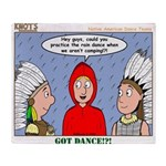 Rain Dance Throw Blanket