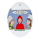 Rain Dance Ornament (Oval)