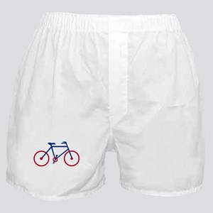 Blue and Red Cycling Boxer Shorts