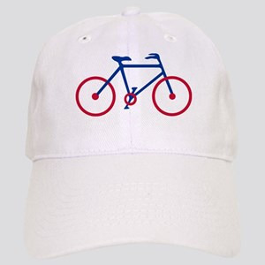 Blue and Red Cycling Cap