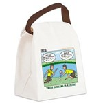 Reptile Study Canvas Lunch Bag