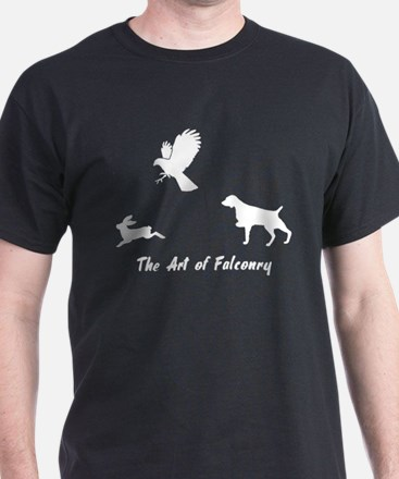 Brittany and Falconry Black T-Shirt