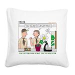 Plant Study Square Canvas Pillow
