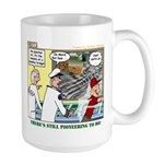Pioneering in Space Large Mug