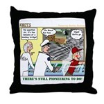 Pioneering in Space Throw Pillow