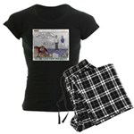 Fingerprinting Women's Dark Pajamas