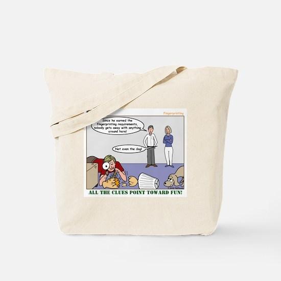 Fingerprinting Tote Bag