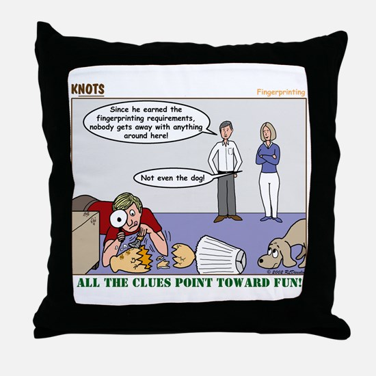 Fingerprinting Throw Pillow