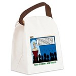 Blue and Gold Canvas Lunch Bag