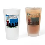 Blue and Gold Drinking Glass