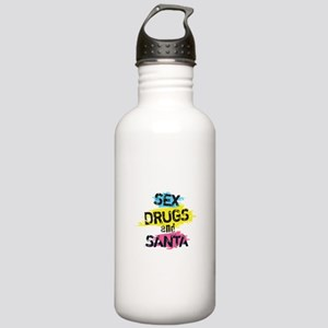 Sex Drugs And Santa Stainless Water Bottle 1.0L