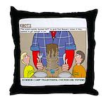 Camp Totems Throw Pillow