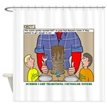Camp Totems Shower Curtain