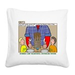 Camp Totems Square Canvas Pillow