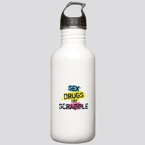 Sex Drugs And Scrabble Stainless Water Bottle 1.0L