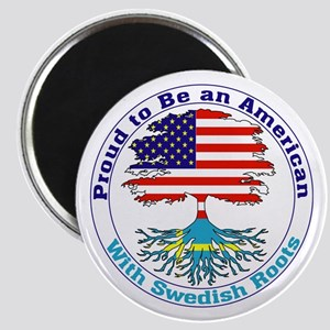 """American-Swedish Roots 2.25"""" Magnet (10 pack)"""