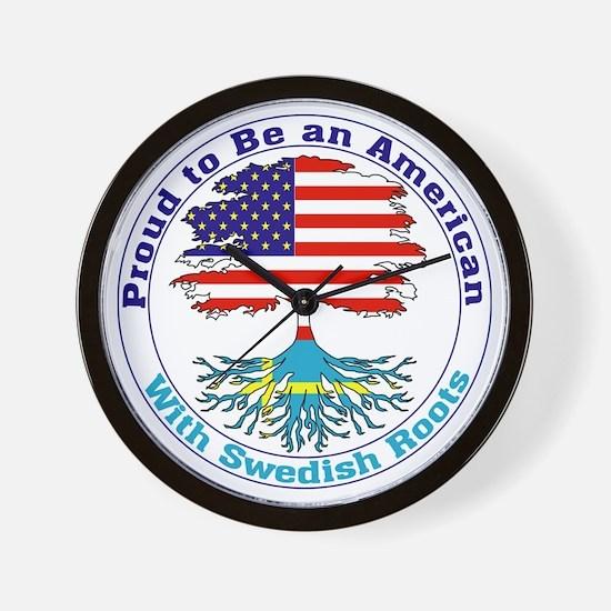 American-Swedish Roots Wall Clock