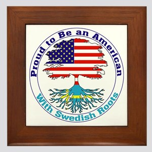 American-Swedish Roots Framed Tile