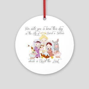 Baby Jesus Ornament (Round)