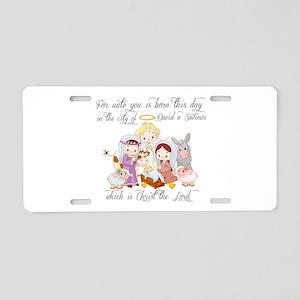 Baby Jesus Aluminum License Plate