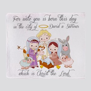 Baby Jesus Throw Blanket