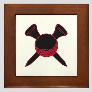 Red and Black Golf Framed Tile
