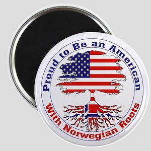 "American-Norwegian Roots 2.25"" Magnet (10 pack)"