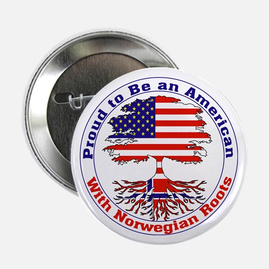 "American-Norwegian Roots 2.25"" Button (10 pack)"